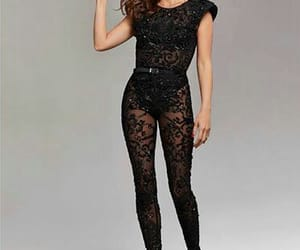 black lace, fashion, and Prom image