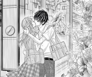 anime, couple, and kiss couple image