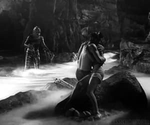 Creature from the Black Lagoon, gif, and vintage image