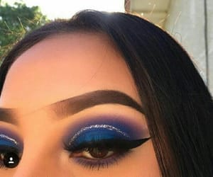 makeup, make, and blue image