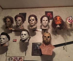 horror, mask, and theme image