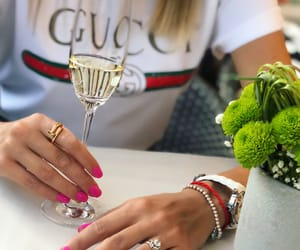 champagne, jewelry, and nails image