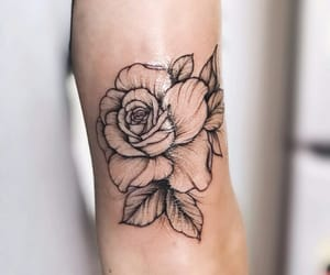ink, rose, and tattoo image