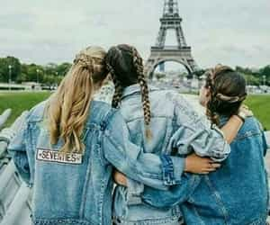 friends, paris, and best friends image