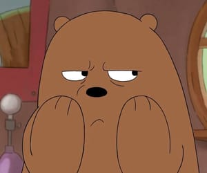 animation, bear, and i'm angry image