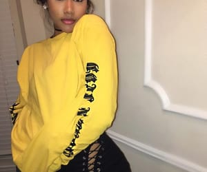 fashion, yellow, and beauty image