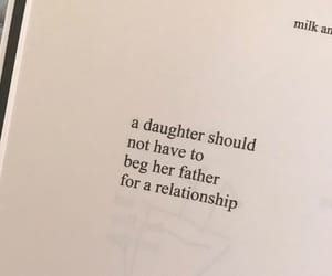 quote, daddy issues, and book image
