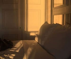 sunset, room, and golden hour image