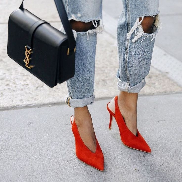 fashion, girl, and red shoes image