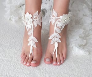 etsy, barefoot sandals, and bridesmaid gifts image