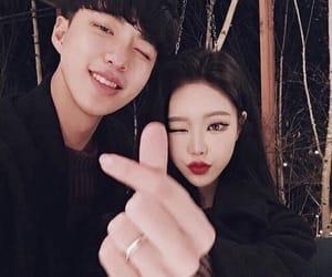 asian, couple, and ulzzang girl image