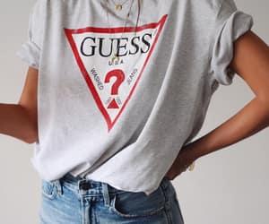 fashion, guess, and t-shirt image