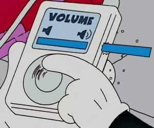 music, volume, and cartoon image