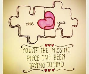 love, heart, and puzzle image