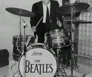 b&w, drums, and 60's image