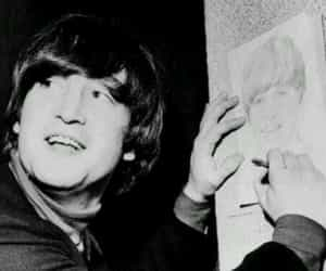 beatle, draw, and lennon image