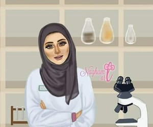 chemistry, girl, and hijab image