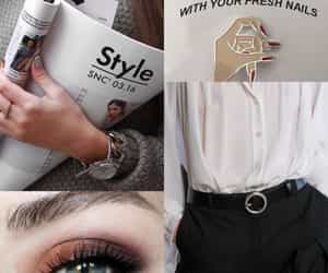 belt, eye, and makeup image