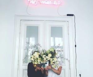 flower, girls, and light image