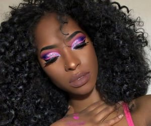makeup, pink, and purple image