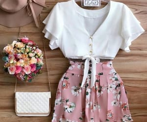 fashion, floral, and pink image