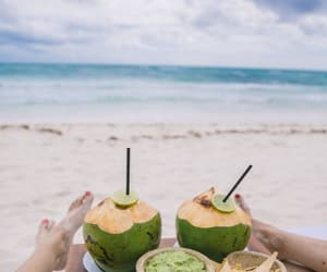 friend, beach, and food image