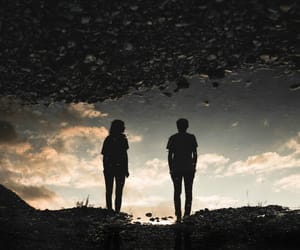 couple, light, and shadow image