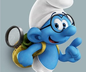 background, smurfs, and beautiful image