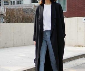 black, black and white fashion, and coat image