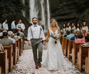 couple and wedding image
