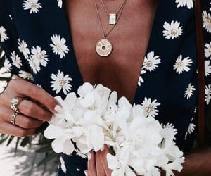 fashion, flowers, and jewelry image