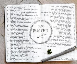 bucket list and bullet journal image