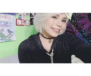 choker, smile, and blonde short hair image