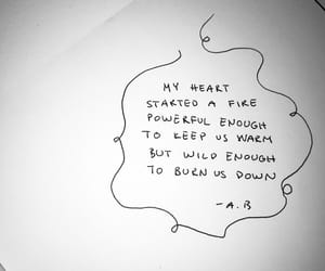 black and white, broken heart, and burning image