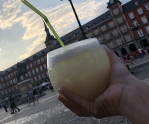 summer, pina colada, and drinks image