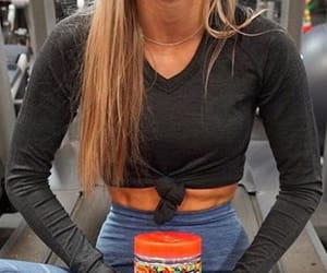 abs, blonde, and fitness image