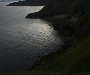 dark, hills, and water image