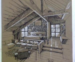 bedroom, drawing, and Dream image