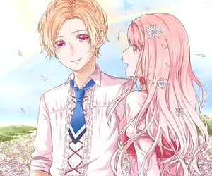 otome game, fan art, and pink image