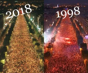 1998, Champs-Elysees, and football image