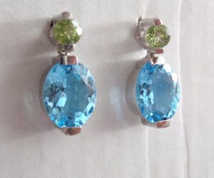 august birthstone, blue topaz earrings, and etsy image