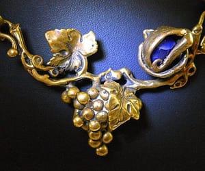 blue, grape, and vintage necklace image