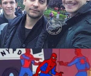 meme, spiderman, and tom holland image