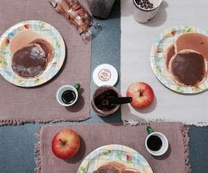 apple, coffee, and breakfast image