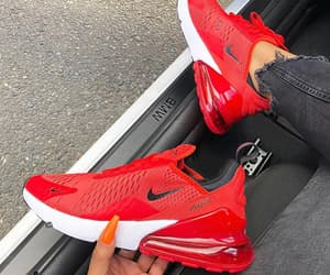 nike, red, and sneakers image
