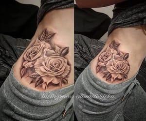 art, beautiful, and roses image