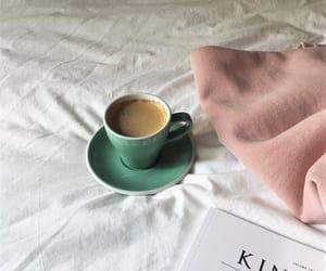 black coffee, book, and caffeine image