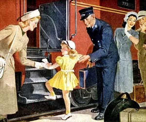 1940s, vintage travel, and pennsylvania railroad image