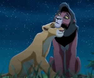 love, lion, and lion king image