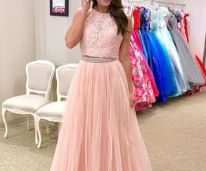prom dress, prom gown, and two pieces prom dress image